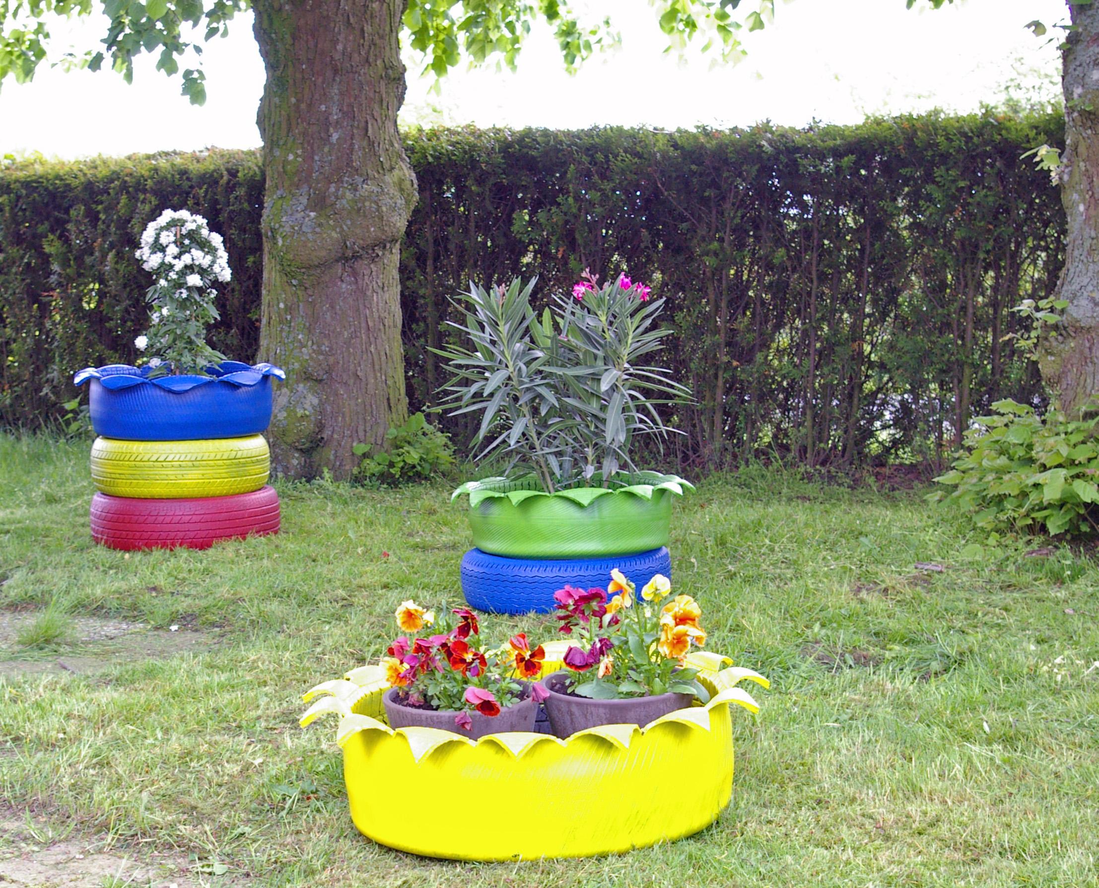 gartendekoration mit reifen – ragopige, Garten ideen