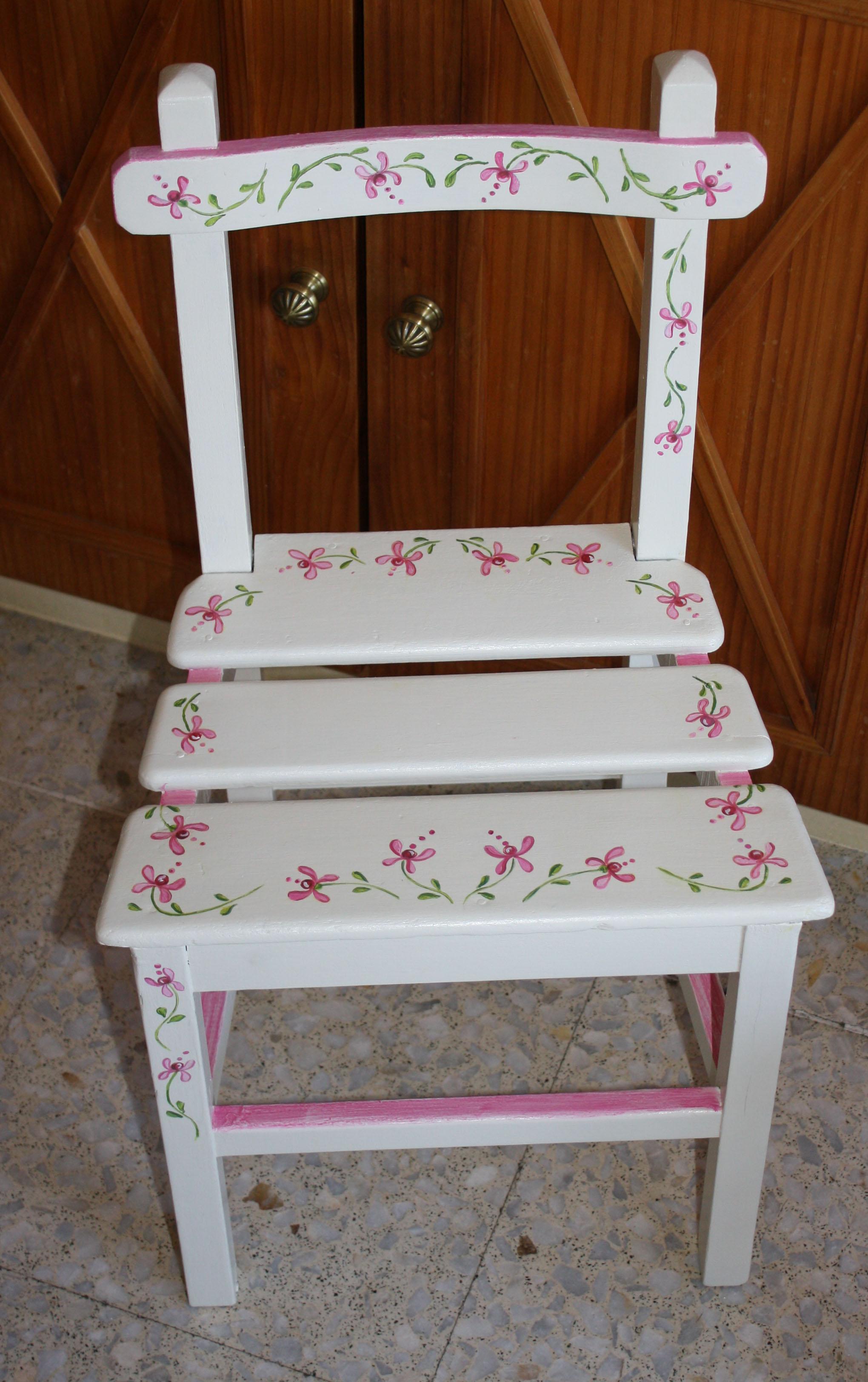 sillas decoradas  RECYDECOR muebles pintados a mano