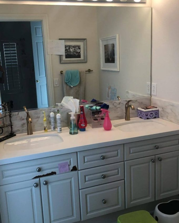 DIY bathroom before and after