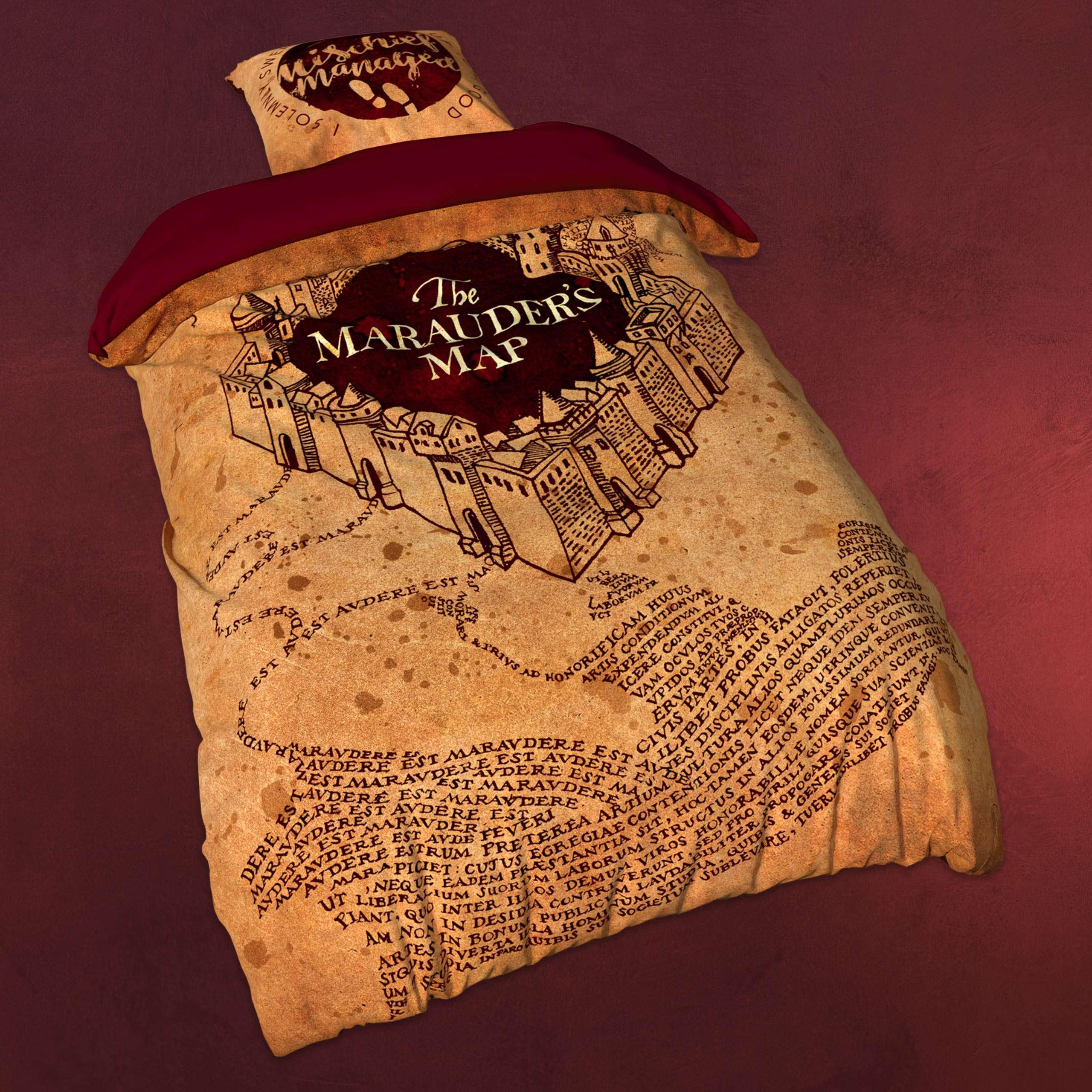 Harry Potter Karte Des Rumtreibers Spruch.Harry Potter Bettwäsche