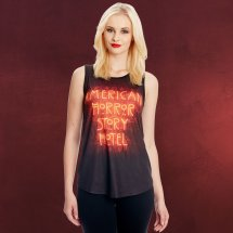 American Horror Story - Hotel Neon Logo Tank Top Elbenwald