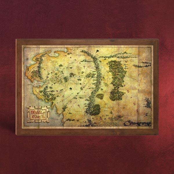 Der Hobbit  Die Karte von Mittelerde  Elbenwald
