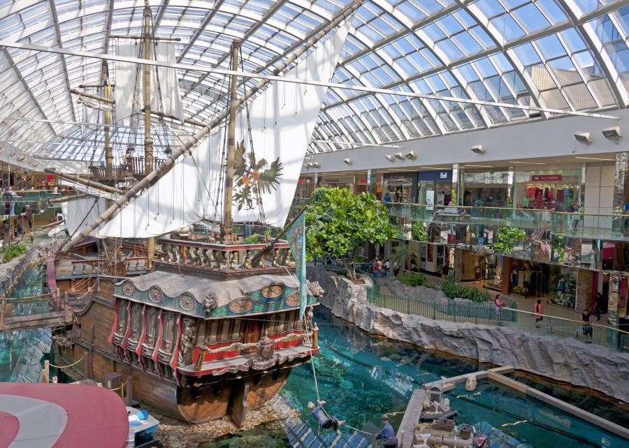 Pirate ship in the West Edmonton Mall | via:  wikipedia.org