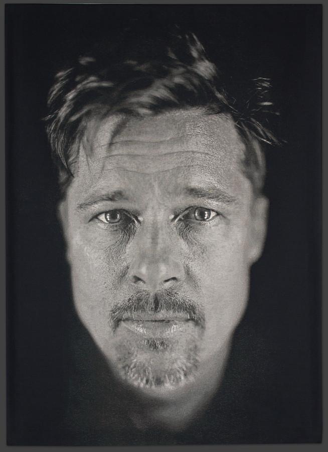 Foto: Retrato de Brad Pitt por Chuck Close