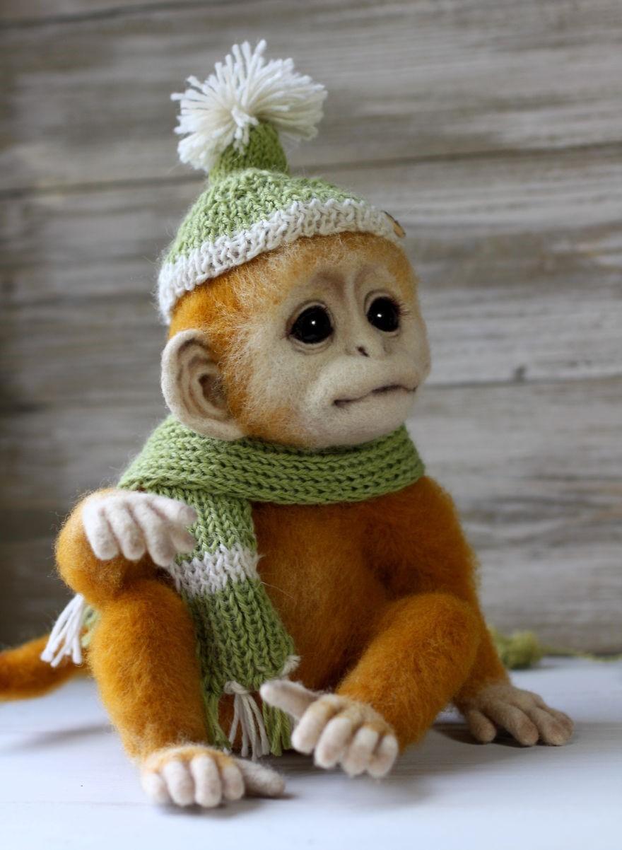 animalitos tiernos realistas de lana