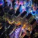 Impresionantes fotos aereas de new york de noche