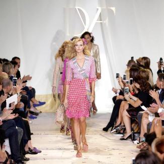 Desfile da Diane Von Furstenberg na Semana de Moda em New York