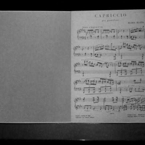 """""""Capriccio"""" melodia escrita por sua mãe."""