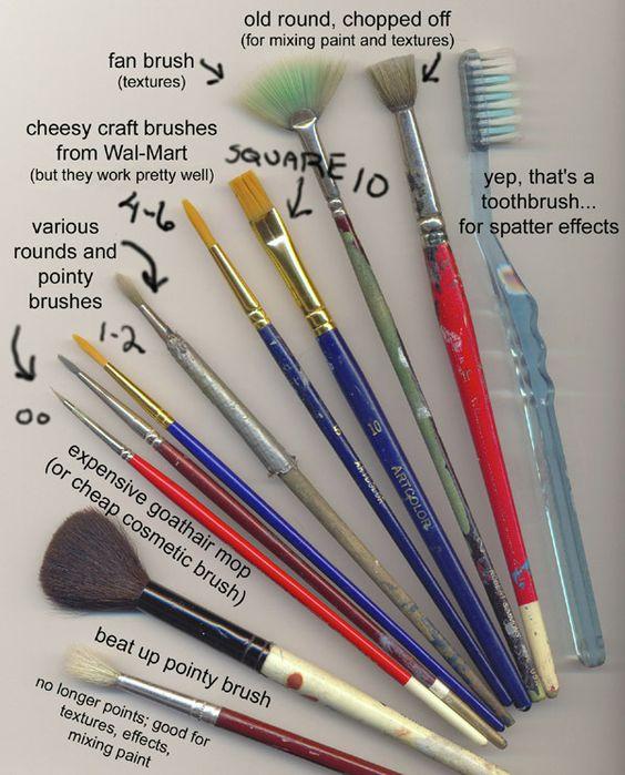 Pincéis improvisados e muito mais simples!