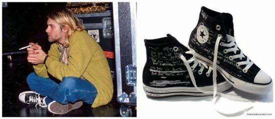 Kurt Cobain usando All Star