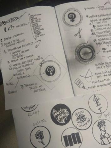 Manual feito pela Silvana de como bordar (moldes DIT - Do It Yourself) e alguns desenhos disponibilizados para a galera fazer.