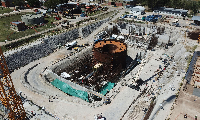 El CAREM es construido en un predio de 10 hectáreas en Zárate.   Foto: CNEA