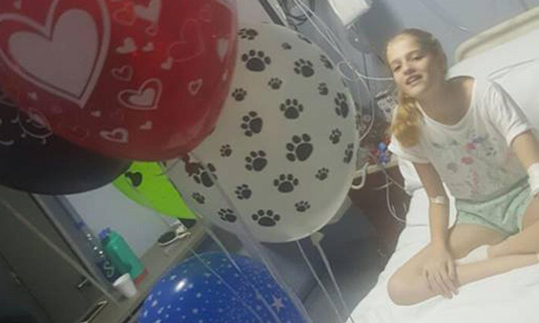 Justina en su cuarto del sanatorio. Foto: www.facebook.com/multiplicatex7/