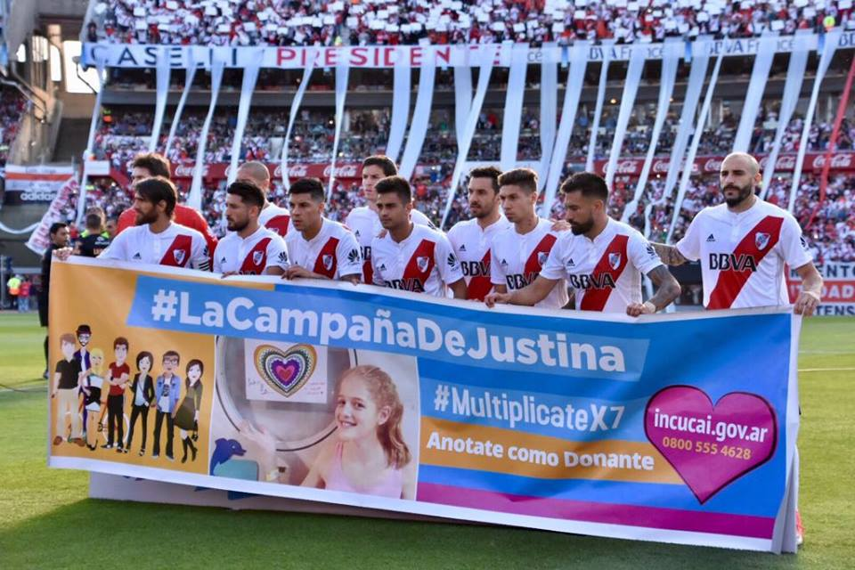 El equipo de River participó de la campaña en noviembre de 2017.