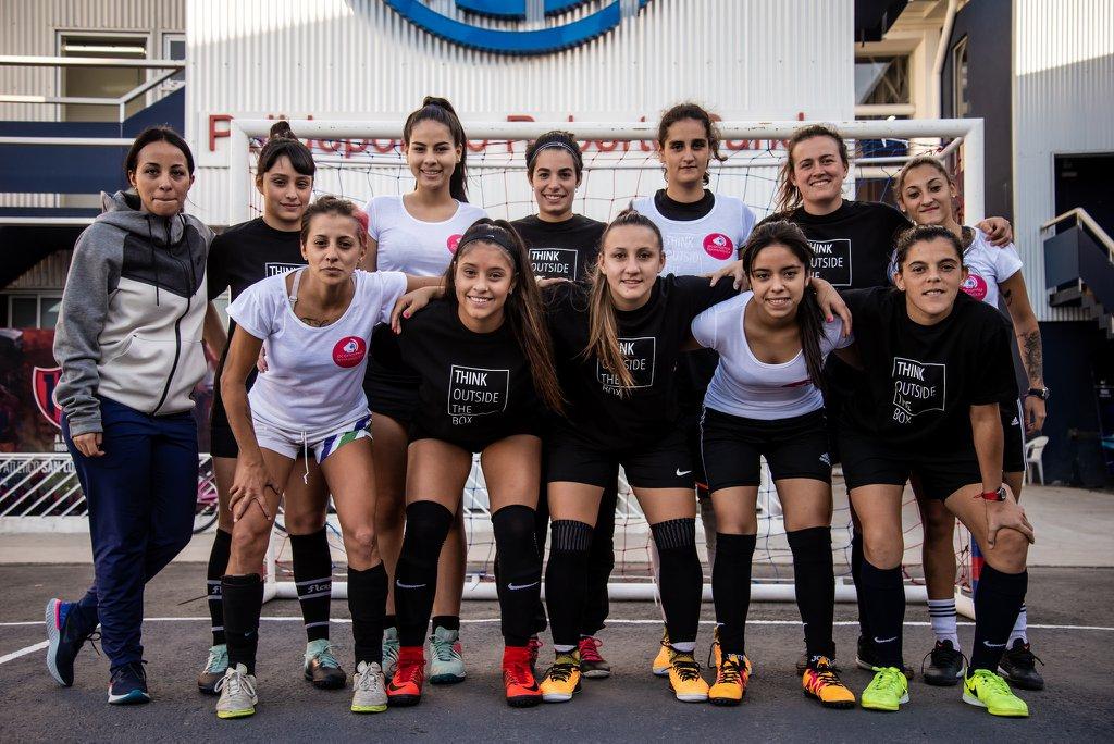 En abril, San Lorenzo lanzó junto a Economía Femini(s)ta y asociaciones de fútbol femenino el Mundial de la Igualdad. Foto: Economía Femini(s)ta.