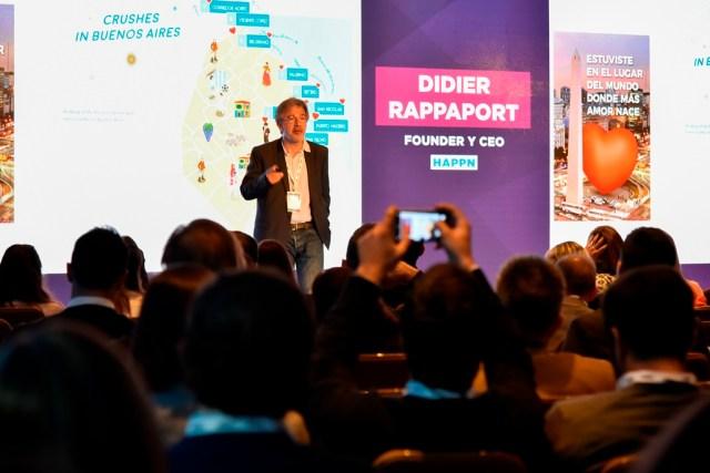 Didier Rappaport, en la cumbre anual de la Marketing Mobile Association, en Buenos Aires.