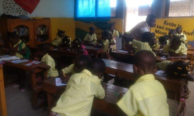 Sofía es voluntaria en una escuela donde asisten más de 550 chicos. | Foto: Sofía Pascual.