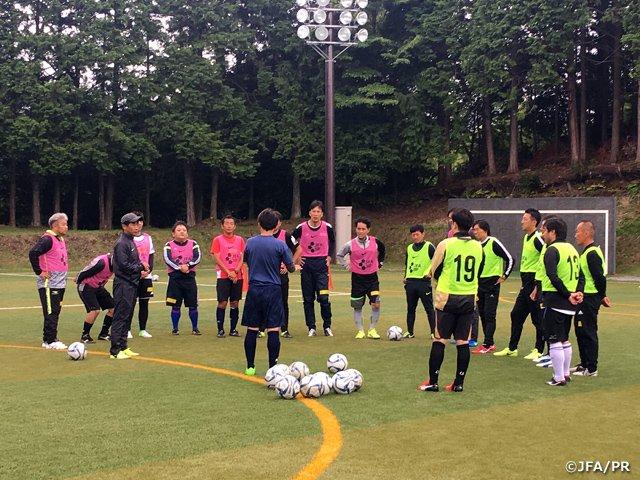 El equipo concentrado. Fuente: Twitter.com/JFA
