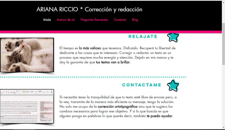 Ariana Riccio - Corrección y redacción de textos