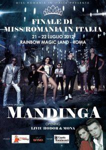 """Mandinga va concerta in Italia la """"Miss Romania in Italia"""""""