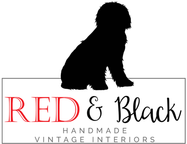 Red and Black Vintage Interiors