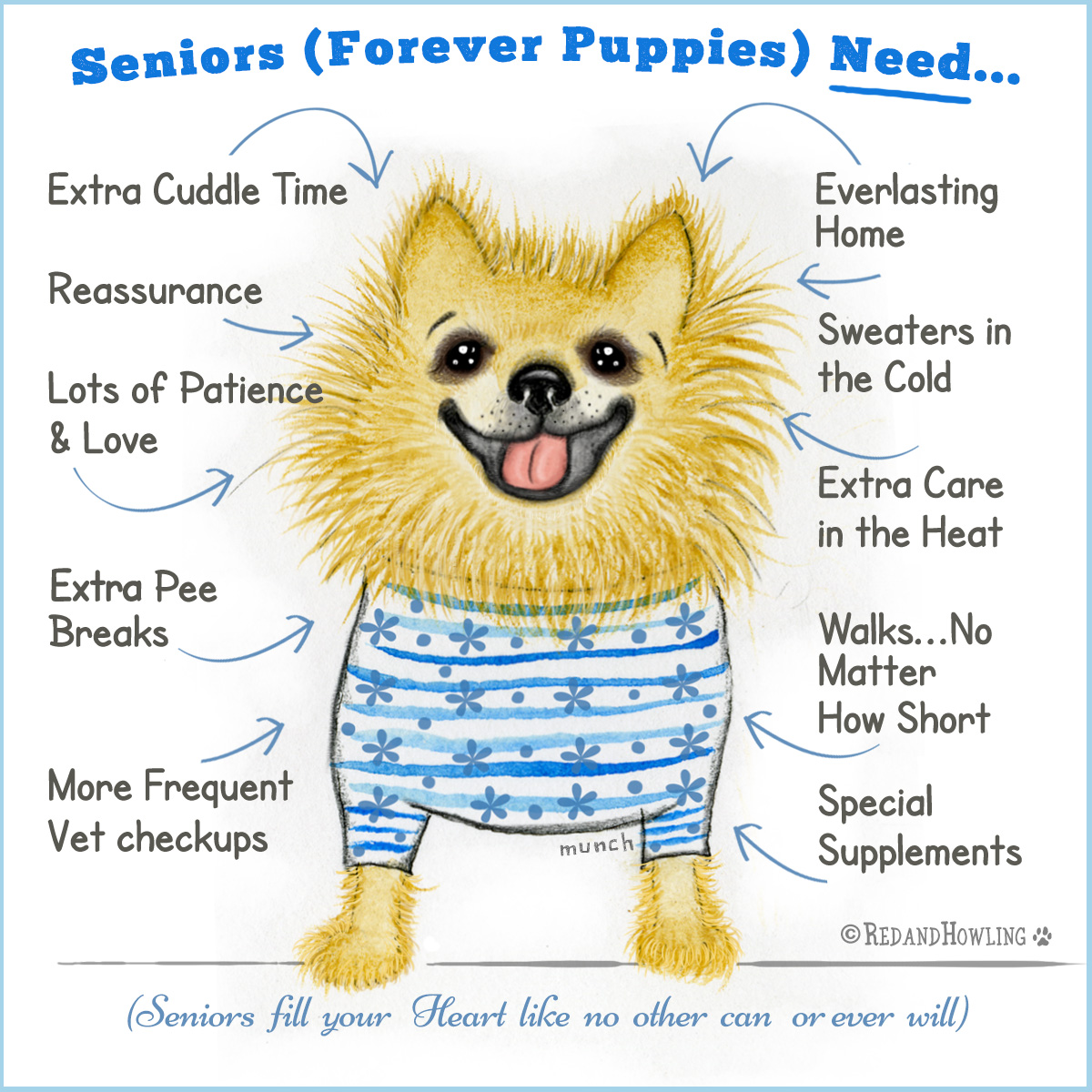 Seniors (Forever Puppies) Need...