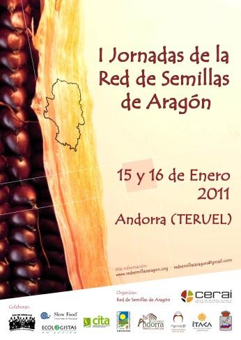 Cartel Jornadas Red Semillas Aragón