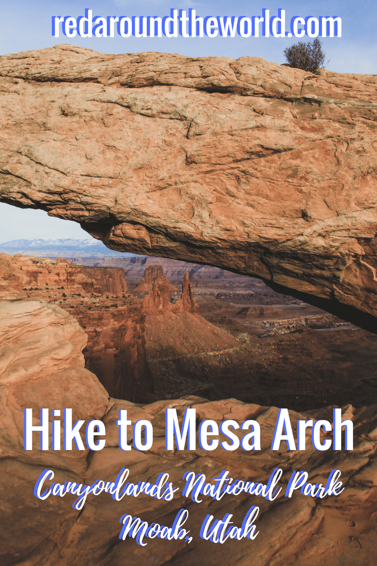 Hike to Mesa Arch in Canyonlands National Park near Moab, Utah