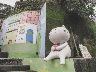 houtong cat village in Taiwan best taipei day trip