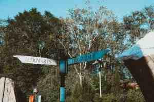 Hogwarts and hogsmeade sign wizarding world of harry potter universal orlando harry potter
