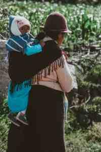 woman with baby in ecuador