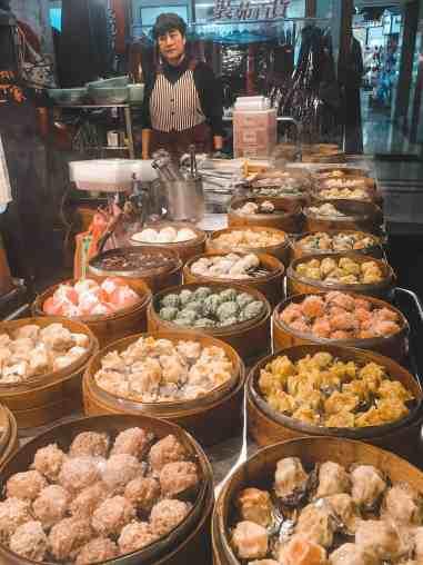 Dumplings at Keelung night market Taiwan