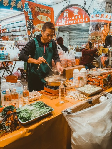 Night markets in Taipei Taiwan