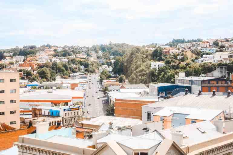 city view of dunedin new zealand