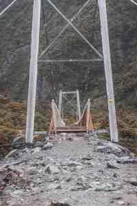suspension bridge in Mt Cook national park new zealand