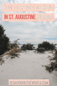 This guide will help you plan a weekend in St Augustine Florida. Visit the oldest city in the US & take a ghost tour, see forts, a lighthouse, and old town. THis is the perfect mix of history in Florida and classic Florida beaches.