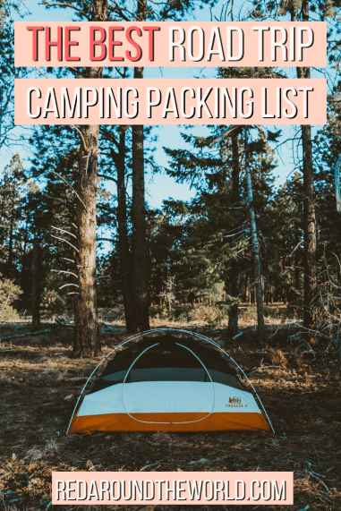 This is the perfect packing list for camping in the national parks on a road trip including the best hiking and camping gear for day hikes beginner campers. This is a the best camping packing list for road trips. If you're camping on a road trip, you need this list.