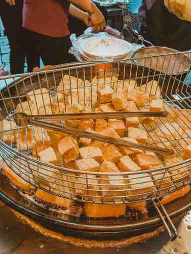 stinky tofu night market in Kaohsiug Taiwan