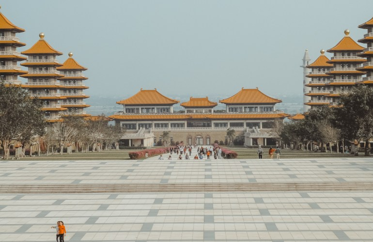 Fo Guang Shan Buddhist temple Kaohsiung Taiwan