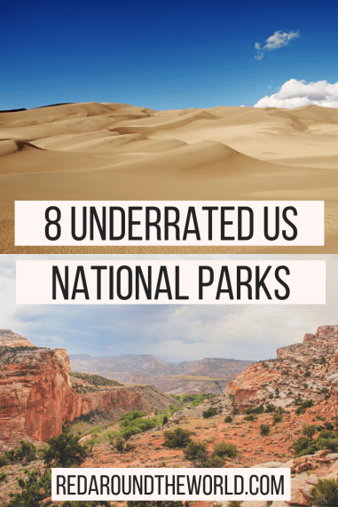 Check out some of the most underrated national parks in the US. These are underrated national parks are perfect for a national park road trip. See Capitol Reef, Great Basin, Carlsbad Cavers, Hot Springs, and so much more.