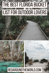 This is the best outdoor florida bucket list. You'll find the best state parks in Florida on it along with the Florida national parks and some of the other best hikes in Florida. If you love the outdoors, this is the perfect list for you to help plan a trip to Florida.