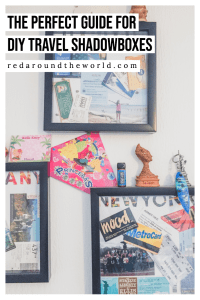 Don't know what to do with all of your little travel mementos like tickets, money, and pictures? Find travel shadow box ideas here. DIY travel shadowbox   Travel memories   travel craft ideas   What to do with tickets   What to do with old travel stuff   Travel mementos   DIY Shadowbox   Travel shadow box