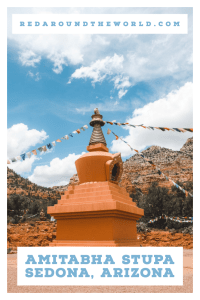 The Amitabha Stupa is a great place to spend some time in Sedona, Arizona. After a long day of hiking in Sedona, visit the buddha stupa. It's a great stop on an Arizona road trip. Arizona travel | Arizona road trip | Arizona vacation | Sedona | Sedona Arizona | Sedona Arizona things to do in