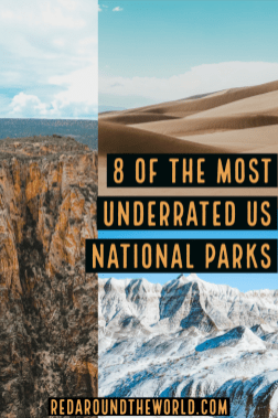 Check out some of the most underrated national parks in the US. These are underrated national parks are perfect for a national park road trip. US national parks | national park vacation | national park travel | underrated national parks | congaree | capitol reef | Great Basin | Carlsbad caverns | Badlands | Hot springs Arkansas | hot springs national park | black canyon of the gunnison | great sand dunes | us travel | USA vacation | USA travel | USA national parks