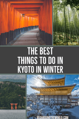 Kyoto is great year round, but it's perfect in the winter. These are the best things to do in Kyoto in the winter. Take day trips from Kyoto and explore Gion. Kyoto in winter, kyoto travel, kyoto vacation, kyoto trip ideas, kyoto things to do, japan travel, japan vacation, japan vacation ideas, japan in winter, japan things to do #japan #kyoto #solotravel