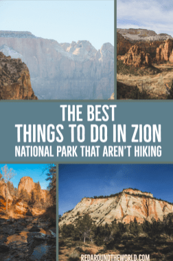 Zion National Park is the most popular national park in Utah. It has some of the best hikes in Utah but this will tell you what to do in Zion that isn't hiking. Zion National Park   Zion National Park Utah   Zion Utah   Zion National Park Utah Hiking   Utah Travel   Utah vacation   Utah national parks road trip   Utah things to do   Utah National Parks #USA #Utah #roadtrip #nationalpark