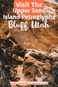The Upper Sand Island Petroglyphs are one of the best things to do in Bluff, Utah. It's easy to get to and has tons of style of petroglyphs. petroglyphs in utah   Utah road trip   hiking in Utah   best things to do in Utah   Utah hikes   Utah road trip itinerary   utah rock art   rock art in Utah   easy hikes in utah   Utah vacation   Utah travel   Utah things to do   petroglyphs #usa #utah #roadtrip