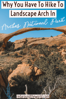 The Landscape Arch hike is one of the best hikes in arches national park. It's one of the most iconic arches in arches national park. This us a must-see on any Utah national park road trip. Utah national parks | Utah road trip | hiking in Utah | best things to do in Utah | Utah hikes | Utah road trip itinerary | national parks in Utah Arches National Park | hiking in Arches | what to do in Arches | best hikes in Arches Utah | Arches national park Utah