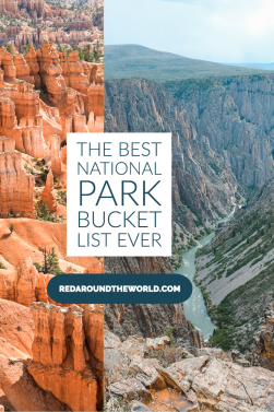 This is the best US National Park bucket list ever. It's broken down by park with the best hikes and activities to do in each park. US National Parks | National Park road trip | national parks to see in winter | winter national parks | national park bucket list | national park hikes | national park things to do | national parks in the usa | usa national parks | best national park hikes