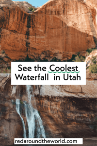 The lower Calf Creek Falls trail hike is the best hike in Escalante. It's easy and goes to one of the best waterfalls in Utah. waterfall hikes | waterfalls in Utah | hikes in escalate | calf creek falls | lower calf creek falls trail | calf creek falls Utah | lower calf creek falls Utah | escalate Utah | escalate hikes